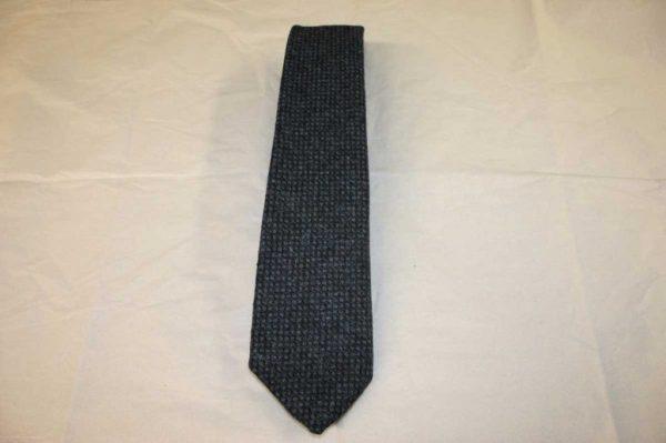 Scottish 100% Wool Woven Tweed Tie (Blue Birdseye)