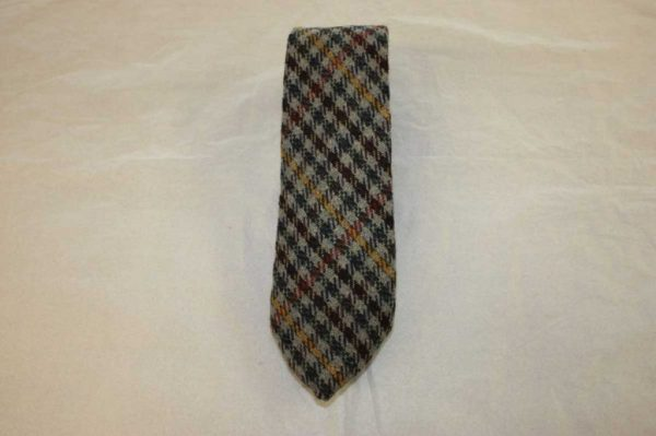 Scottish 100% Wool Woven Tweed Tie (Country Classic - Orange/Yellow Overcheck)