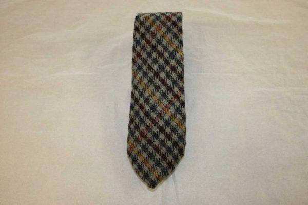 Scottish 100% Wool Woven Tweed Tie (Country Classic - Orange/Yellow Overcheck)