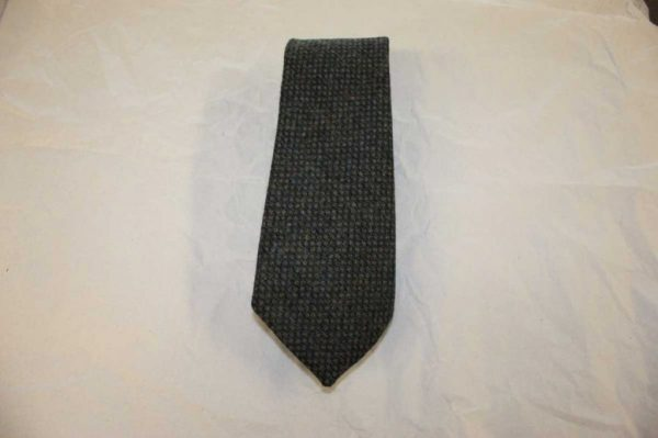 Scottish 100% Wool Woven Tweed Tie (Green Birdseye)