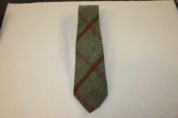 Scottish 100% Wool Woven Tweed Tie (Littleferry Orange)