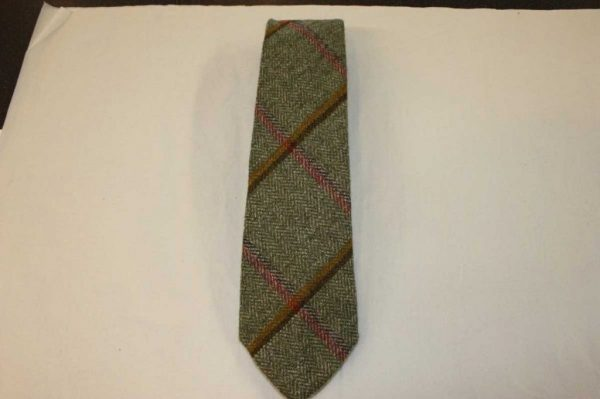 Scottish 100% Wool Woven Tweed Tie (Littleferry Yellow)