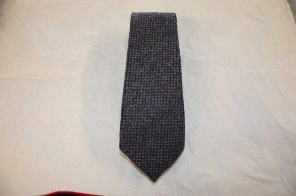 Scottish 100% Wool Woven Tweed Tie (Purple Birdseye)