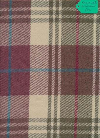 Kingcraig Fabrics Rauge Style Brown Check 1