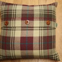 "18"" Cushion Cover - Reddish Brown/Gold"