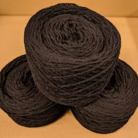 Black DK weight yarn 100 gram ball