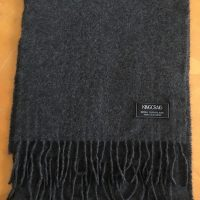 100% Cashmere Solid Shade Scarf - Mid Grey