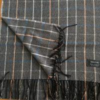 100% Cashmere Stole/Extra Large Scarf/Stole/ Head Scarf Dark Grey (Var 5)
