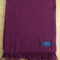 100% Cashmere Solid Shade Scarf - Claret