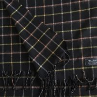 100% Cashmere Stole/Extra Large Scarf/Stole/ Head Scarf Light Black (Var 7)