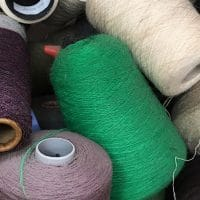 Scottish Spun all wool yarn cones