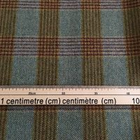 100% Wool Fabric, Brown Green Mustard Braid Tweed (Estate weight tweed)
