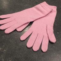 Ladies Lambswool Angora Gloves - Rose Pink
