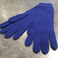 Ladies Lambswool Angora Gloves - Royal Blue