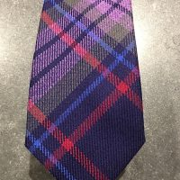 Scottish 100% Worsted Wool Woven Tartan Tie - Blue Battle