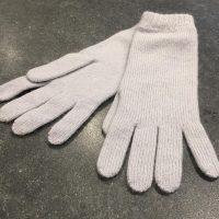 Ladies Lambswool Angora Gloves - Pale Grey