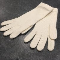 Ladies Lambswool Angora Gloves - Cream