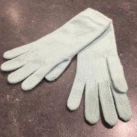 Ladies Lambswool Angora Gloves - Pastel Green
