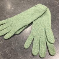 Ladies Lambswool Angora Gloves - Light Green