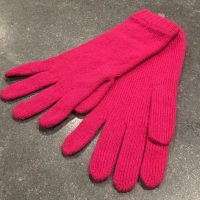 Ladies Lambswool Angora Gloves - Cerise