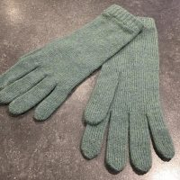Ladies Lambswool Angora Gloves - Jade