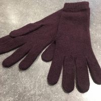 Ladies Lambswool Angora Gloves - Aubergine