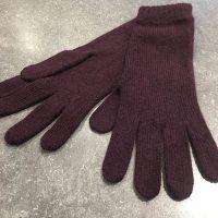 Ladies Lambswool Angora Gloves - Aubergine