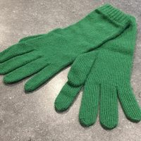 Ladies Lambswool Angora Gloves - Emerald Green
