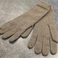 Ladies Lambswool Angora Gloves - Grey-Green
