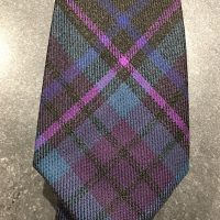 Scottish 100% Worsted Wool Woven Tartan Tie - Dark Battle