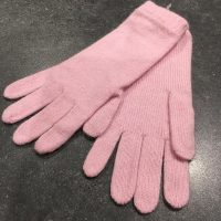 Ladies Lambswool Angora Gloves - Baby Pink