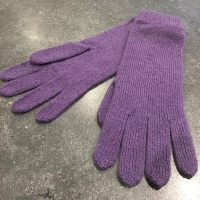 Ladies Lambswool Angora Gloves - Heather
