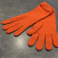 Ladies Lambswool Angora Gloves - Orange