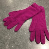 Ladies Lambswool Angora Gloves - Bright Purple