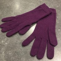 Ladies Lambswool Angora Gloves - Dark Purple