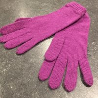 Ladies Lambswool Angora Gloves - Mauve