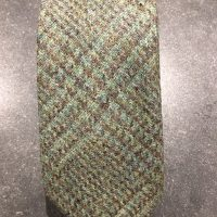 Scottish 100% Wool Woven Tweed Tie - Ousdale Green
