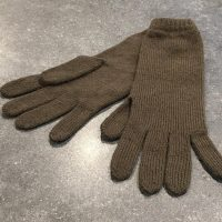 Ladies Lambswool Angora Gloves - Dark Olive