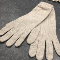 Ladies Lambswool Angora Gloves - Oatmeal