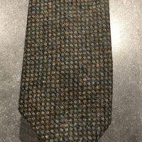 Scottish 100% Wool Woven Tweed Tie Green Birdseye weave